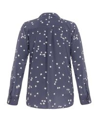 Equipment | Blue Signature Stars Silk Shirt | Lyst