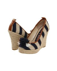 Juicy Couture | Natural Risha Striped Wedges | Lyst