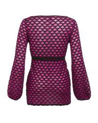 M Missoni | Pink Heart Weave Kaftan Top | Lyst