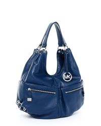 Michael Kors | Blue Exclusive Large Layton Shoulder Tote, Navy | Lyst