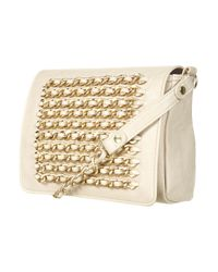 TOPSHOP - Natural Cream Chain Crossbody Bag - Lyst