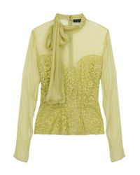 Eastland | Green Lace Blouse | Lyst