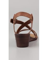 Ash - Brown Orchid Wedge Sandals - Lyst