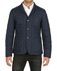 Burberry Brit   Blue Quilted Jacket for Men   Lyst