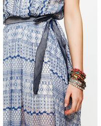 Free People - Blue Fp New Romantics Geo Embroidered Cutout Dress - Lyst