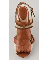 Frye | Brown Ramsey Kilte Sandals | Lyst
