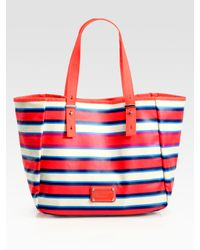 Marc By Marc Jacobs | Multicolor Stripey Jacobsen Painted Canvas Tote Bag | Lyst