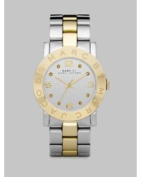 Marc By Marc Jacobs | Metallic Crystal Two-tone Stainless Steel Watch | Lyst