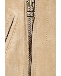 M.i.h Jeans   Natural Pistol Suede Biker Jacket   Lyst