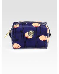 Tory Burch | Blue Brigitte Printed Poplin Cosmetic Bag | Lyst