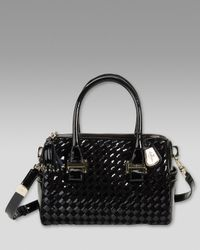Cole Haan | Black Heritage Weave Patent Bag | Lyst