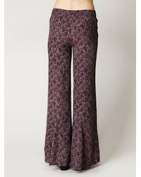 Free People - Purple Floral Print Pullover Pant - Lyst