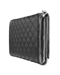 Guess - Black Popular - Quilted Signature Clutch Organizer - Lyst