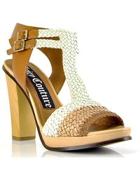 Juicy Couture | White Colored Woven Leather Sandal | Lyst