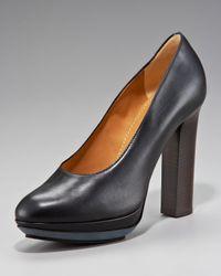 Lanvin - Black Thick-heel Platform Pump - Lyst