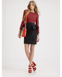 Marc By Marc Jacobs | Red Ellsworth Striped-top Dress | Lyst
