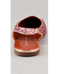 Marc By Marc Jacobs - Pink Sling Back Glitter Flats - Lyst