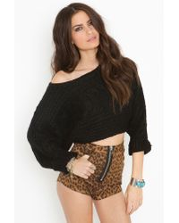 Nasty Gal | Leonore Dolman Crop Top - Black | Lyst