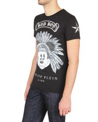 Philipp Plein - Black Bad Boy Swarovski Jersey T-shirt for Men - Lyst