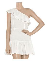 Richard Nicoll | White One-shoulder Cotton-muslin Dress | Lyst