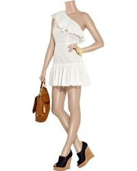 Richard Nicoll - White One-shoulder Cotton-muslin Dress - Lyst