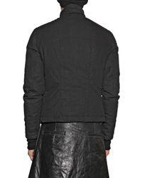 Rick Owens | Black Waxed Cotton Duvet Sport Jacket for Men | Lyst