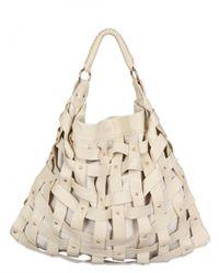 Salar | Natural Juni Woven Leather Shoulder Bag | Lyst