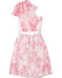 Thread Social - Pink One-shoulder Silk Organza Dress - Lyst