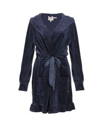 Juicy Couture | Blue Regal Velour Robe | Lyst