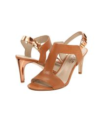 Kors by Michael Kors | Brown Xyla Leather Sandal | Lyst