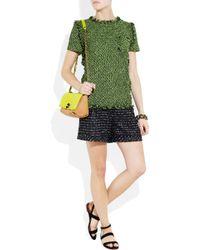 Lanvin | Green Tweed Short-sleeve Top | Lyst