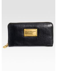 Marc By Marc Jacobs | Black Classic Q Zip-around Wallet | Lyst