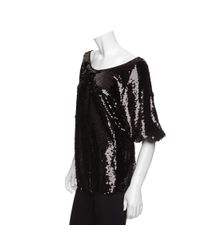 Rachel Zoe - Black Minelli Sequin Top - Lyst