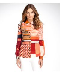 Tory Burch | Red Angelique Blouse | Lyst