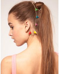 ASOS Collection | Metallic Asos Rainbow Bunting Ear and Hair Cuff | Lyst
