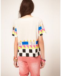 ASOS Collection - Multicolor Tshirt with Neon Blocked Hem - Lyst