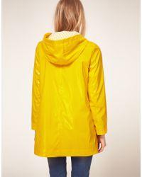 ASOS Collection | Yellow Asos Petite Exclusive Plastic Rainmac | Lyst