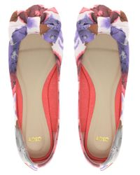 ASOS - Multicolor Asos Lille Ballet Flats with Bow in Floral - Lyst