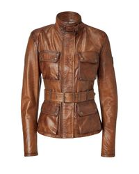 Belstaff | Brown Triumph Leather Jacket | Lyst