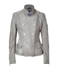 Belstaff | Metallic New Silver Bella Leather Jacket | Lyst