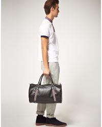 Ben Sherman | Black Iconic Barrel Bag for Men | Lyst