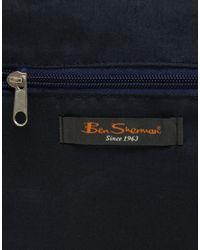 Ben Sherman | Blue Messenger Bag With Union Jack Print for Men | Lyst