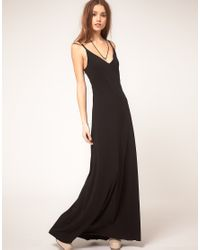 DIESEL - Black Zip Back Maxi Dress - Lyst