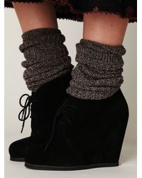 Free People | Black Lantana Wedge Ankle Boot | Lyst