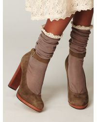 Free People | Green Lana Ankle Strap Heel | Lyst