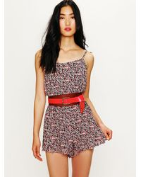 Free People | Multicolor Debby Dot Romper | Lyst