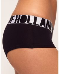 House of Holland | Black Bald Cheeky Short | Lyst