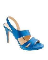 J.Crew | Blue Georgine Platform Heels | Lyst