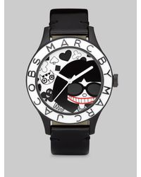 Marc By Marc Jacobs - Black Blade Patent Leather Watch - Lyst