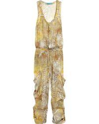Matthew Williamson | Green Zodiac Printed silk-chiffon jumpsuit | Lyst